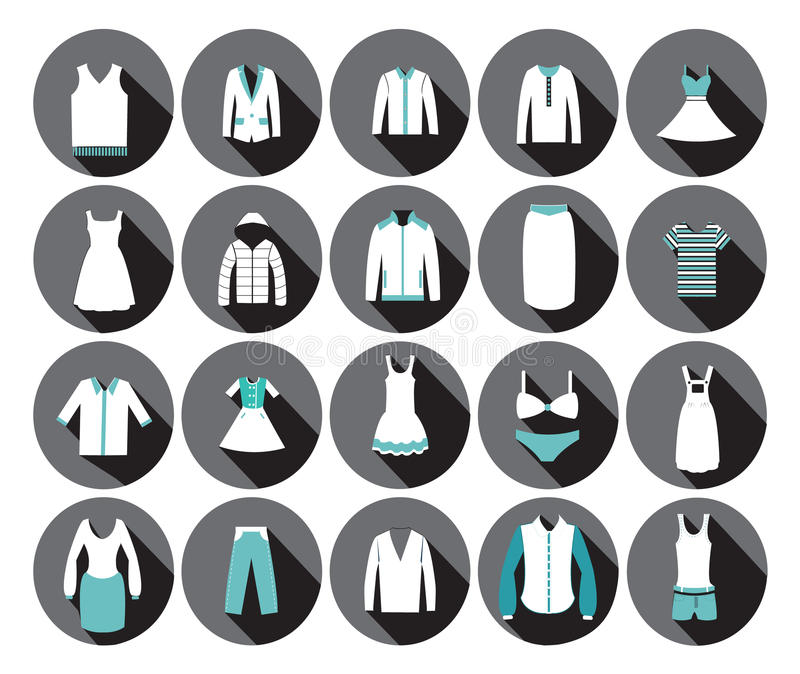 Department Store Clothing Fashion Icon. Stock Vector ...
