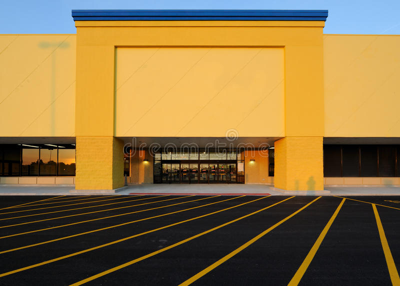 Department store at twilight royalty free stock photography