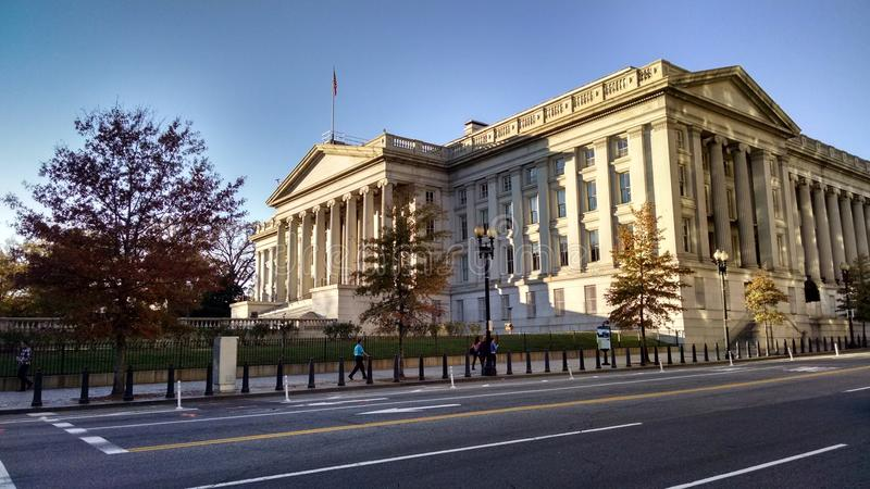 Department of Treasury building royalty free stock photos