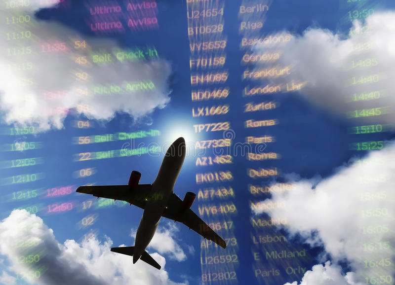Download Departure stock illustration. Image of screen, date, plane - 11416449
