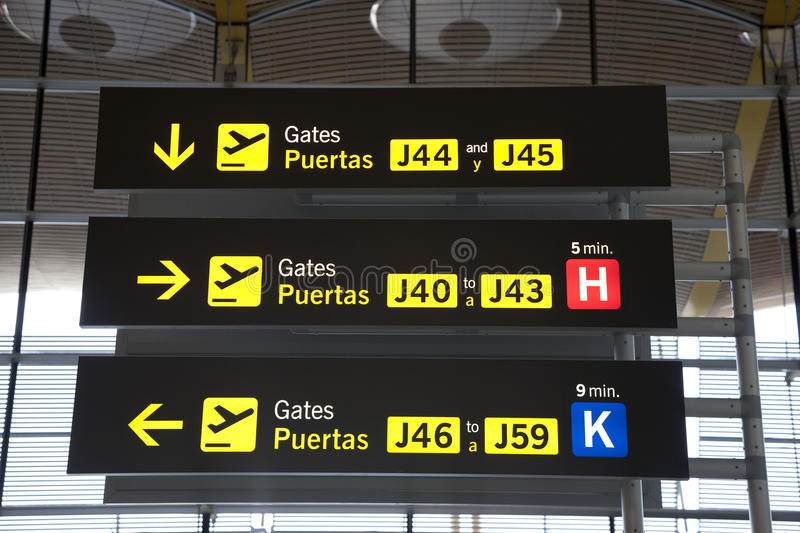 Departure Airport Sign Royalty Free Stock Image