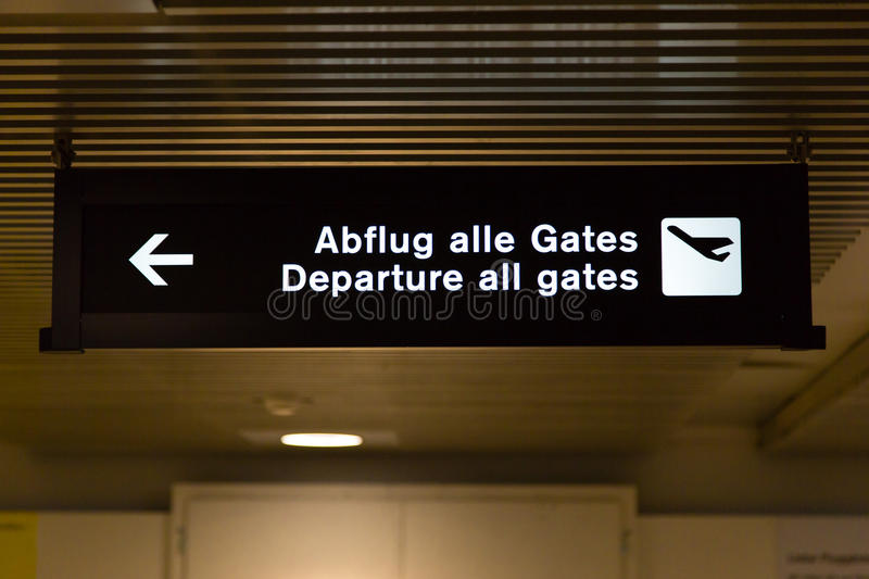 Departure all gates royalty free stock image