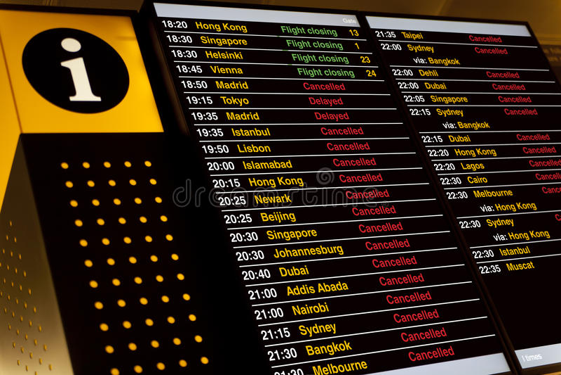 Departure Board Stock Photo