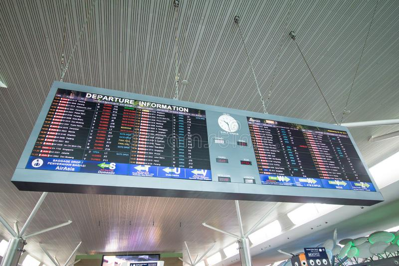 Departure Board at airport stock image