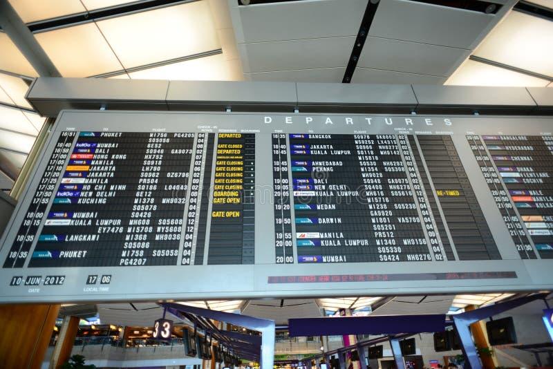Download Departure Display Of Singapore Changi Airport Editorial Stock Image - Image: 27973114
