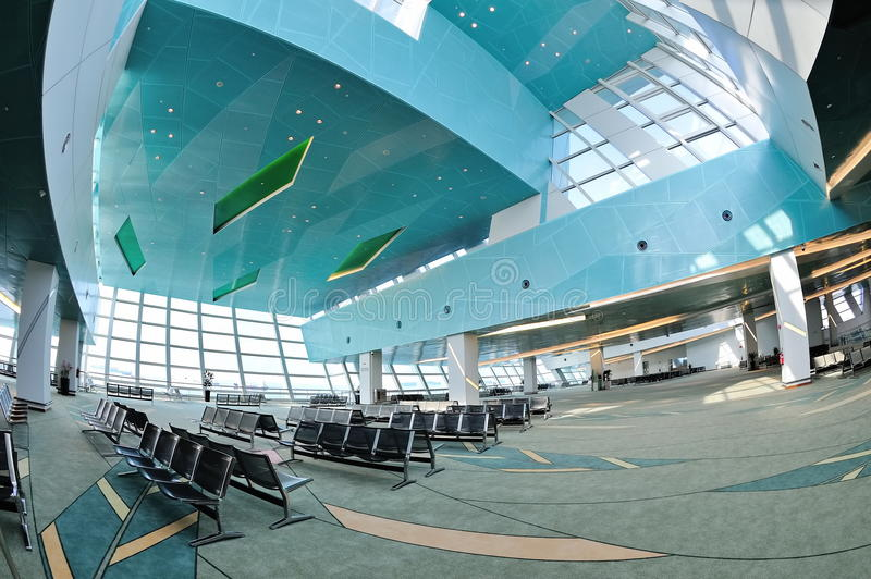 Departure Hall Of Marina Bay Cruise Center Stock Photography