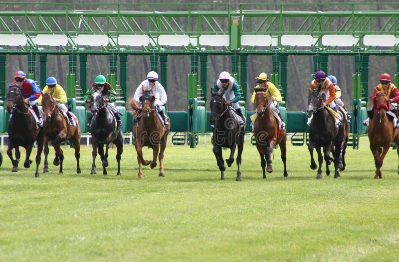 Departure of horses racing