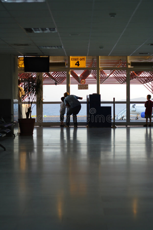 Departure lounge stock photos