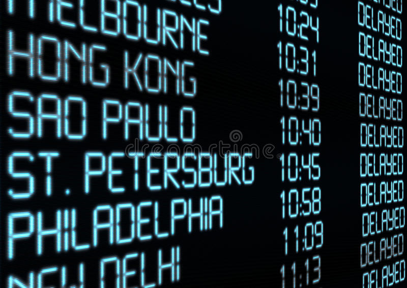 Departure Timetable Royalty Free Stock Image