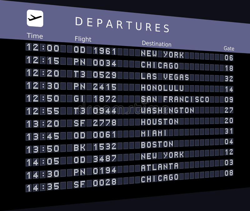 Departures vector illustration