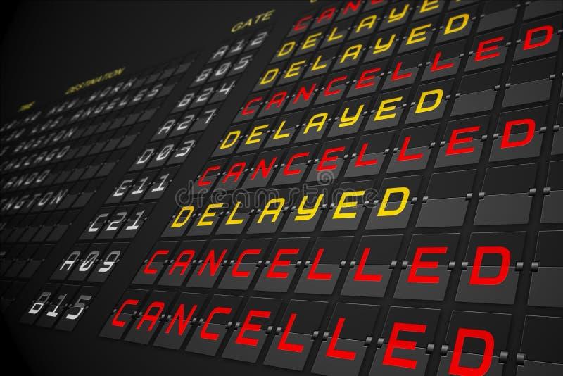 Download Departures List On Black Mechanical Board Stock Illustration - Illustration of cancelled, graphic: 39436693