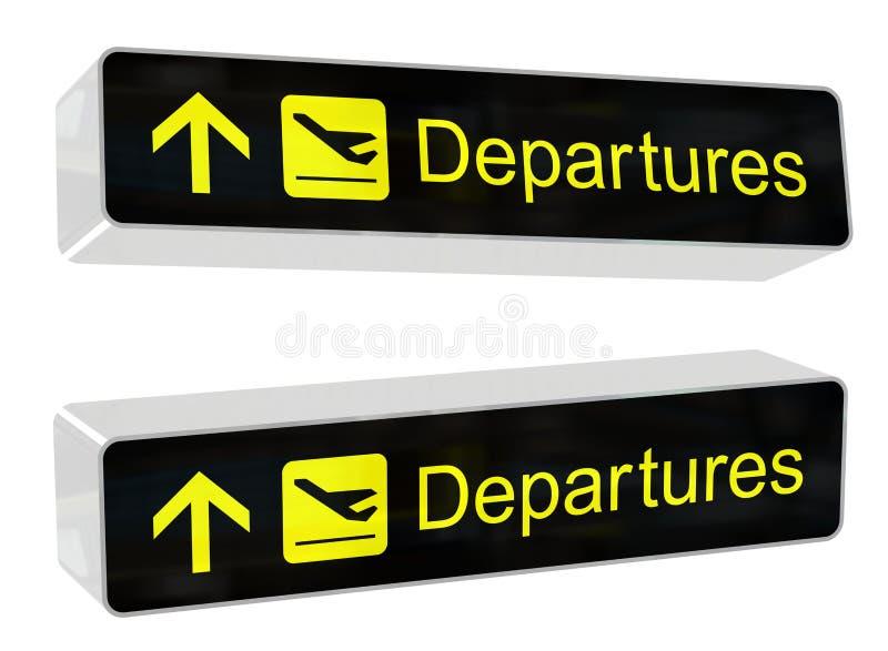 Download Departures Sign stock illustration. Image of customs - 11810550