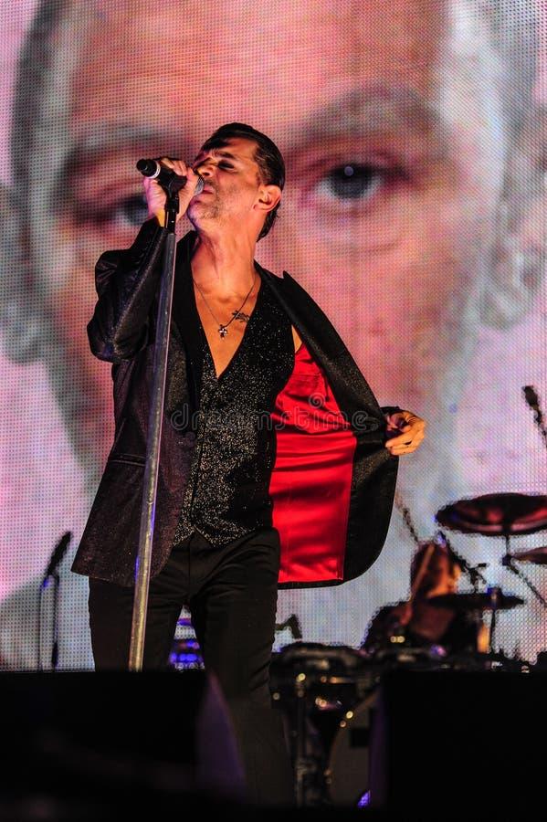 Depeche方式音乐会 库存图片