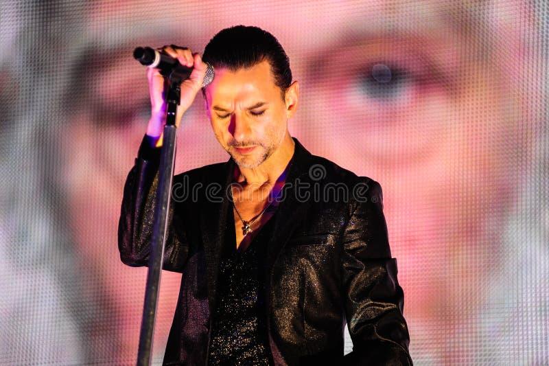 Depeche Mode konsert arkivbilder