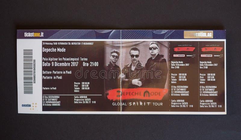 Depeche Mode turnerar den globala anden biljetten i Turin royaltyfria foton