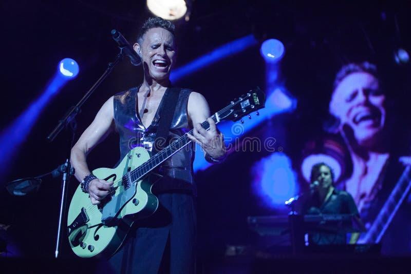 Depeche Mode vivo - Martin Gore imagem de stock