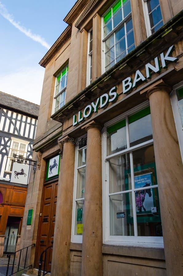 Dependência bancária de Lloyds em Chester fotos de stock royalty free