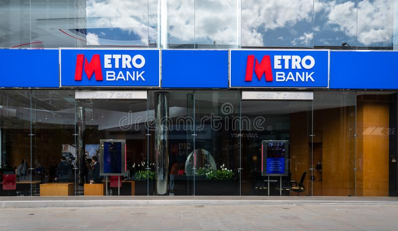 Dependência bancária Swindon do metro fotos de stock royalty free