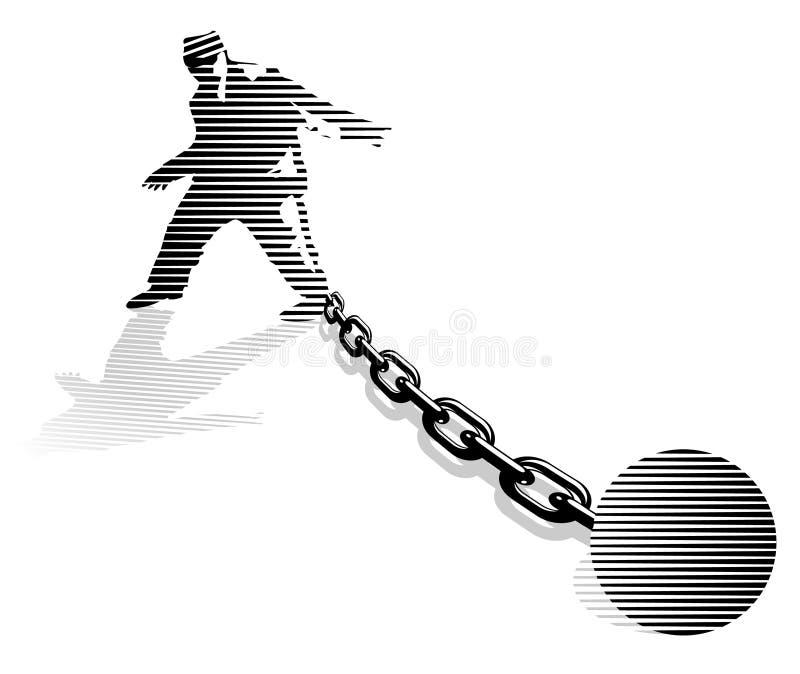 Dependente do prisioneiro. ilustração do vetor