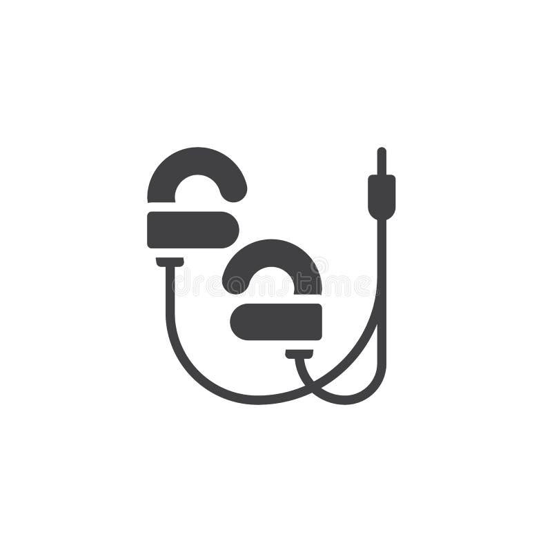 Depeszująca słuchawka wektoru ikona ilustracja wektor