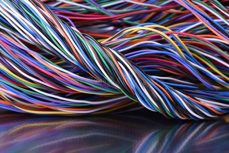 depeszuje kolorowy elektrycznego fotografia stock