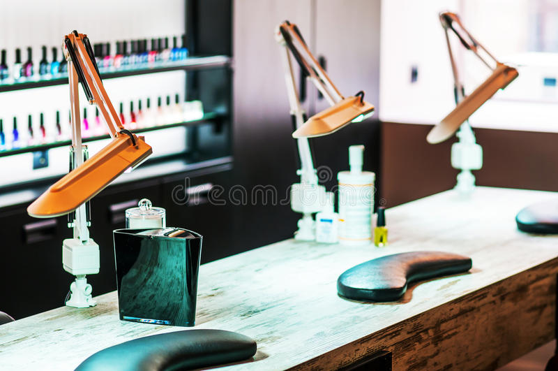 The depiction of nail salon royalty free stock photo