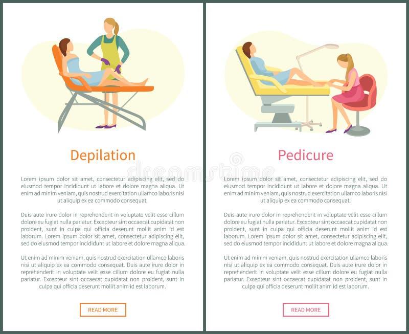Epilation Vs Depilation Stock Vector  Illustration Of Cream