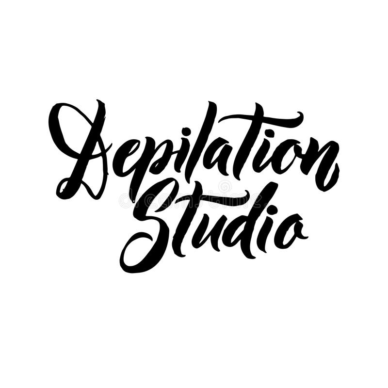 Depilation Typography Square Poster. Vector lettering. Calligraphy phrase for gift cards vector illustration
