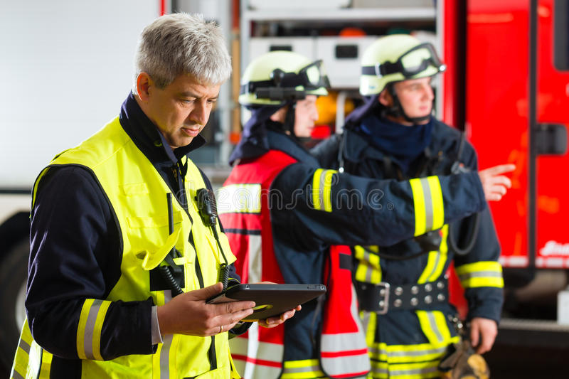 Deployment planning on Tablet-Computer royalty free stock image