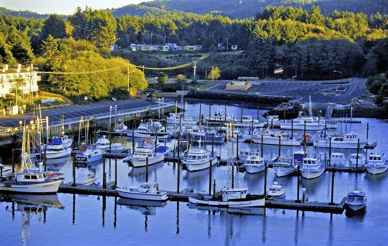 Depoe Bay Harbor, Oregon  11652. Boats moored in Smallest Harbor in the World Depoe Bay Harbor Oregon    11652 stock images