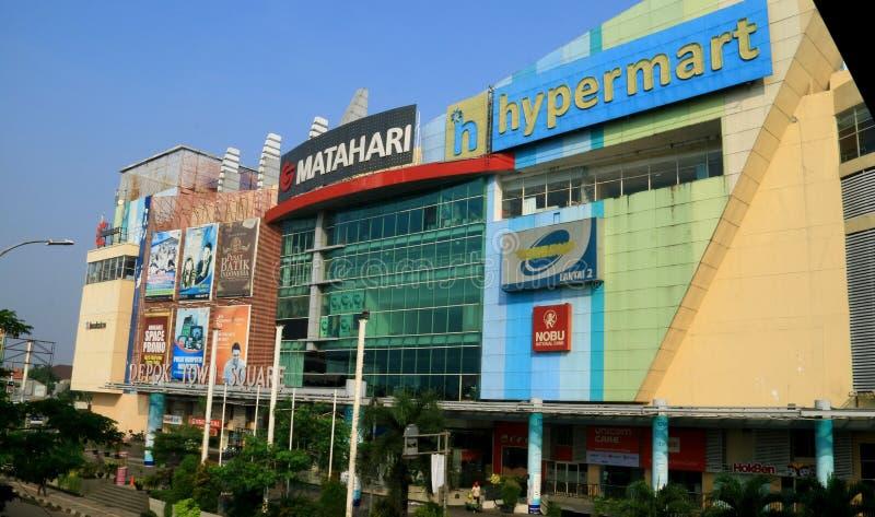 Depok Town Square. Depok, Indonesia - May 26, 2018: Depok Town Square, mall in Jalan Margonda, Depok, West Java stock photography