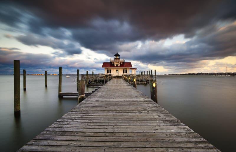 deponować pieniądze latarni morskiej manteo bagna nc zewnętrzny Roanoke obrazy royalty free