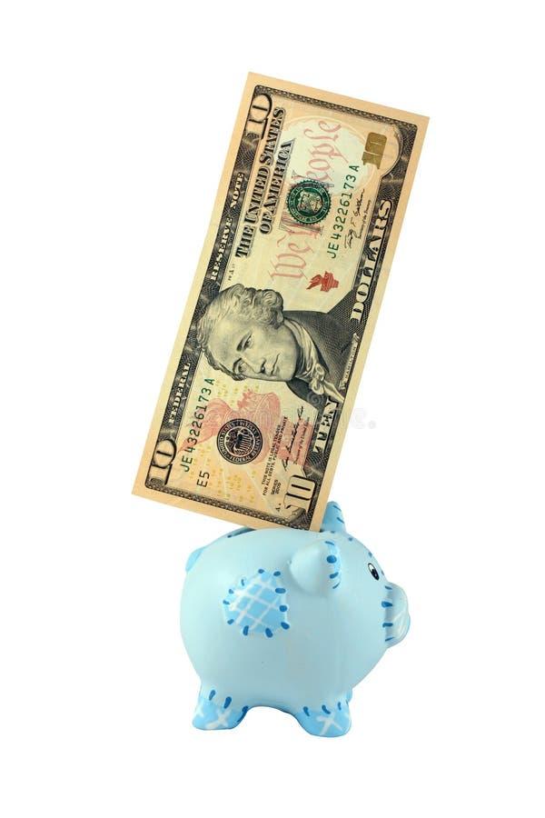 deponować pieniądze prosiątko zdjęcie stock