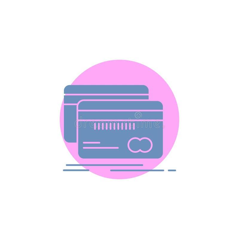 Deponujący pieniądze, karta, kredyt, debet, finansuje glif ikonę ilustracji
