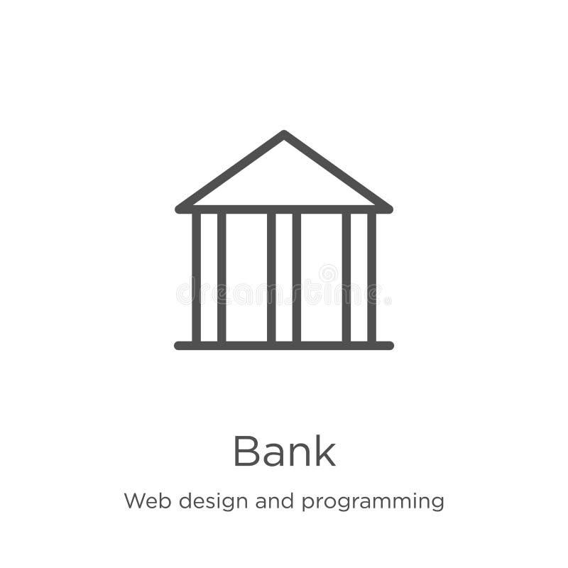 deponuje pieniądze ikona wektor od sieć projekta i programowanie kolekcji Cienka kreskowa banka konturu ikony wektoru ilustracja  ilustracji