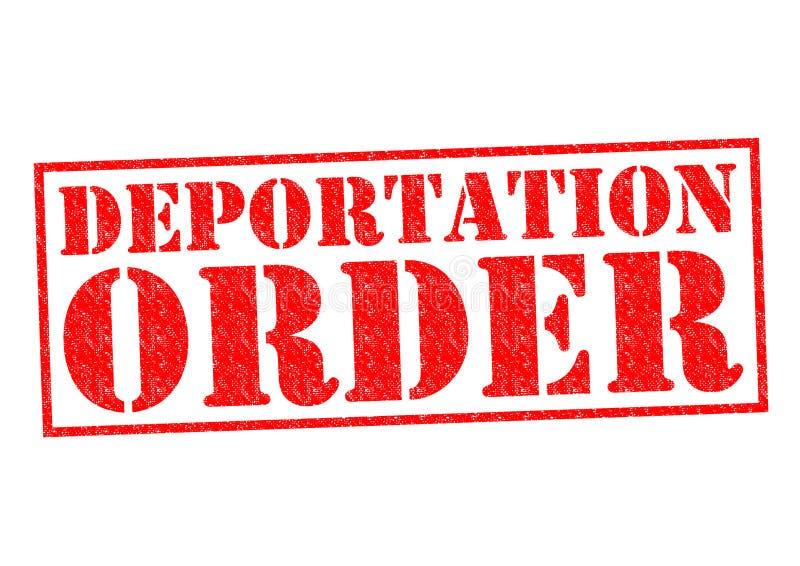 DEPORTATION ORDER. Red Rubber Stamp over a white background royalty free illustration