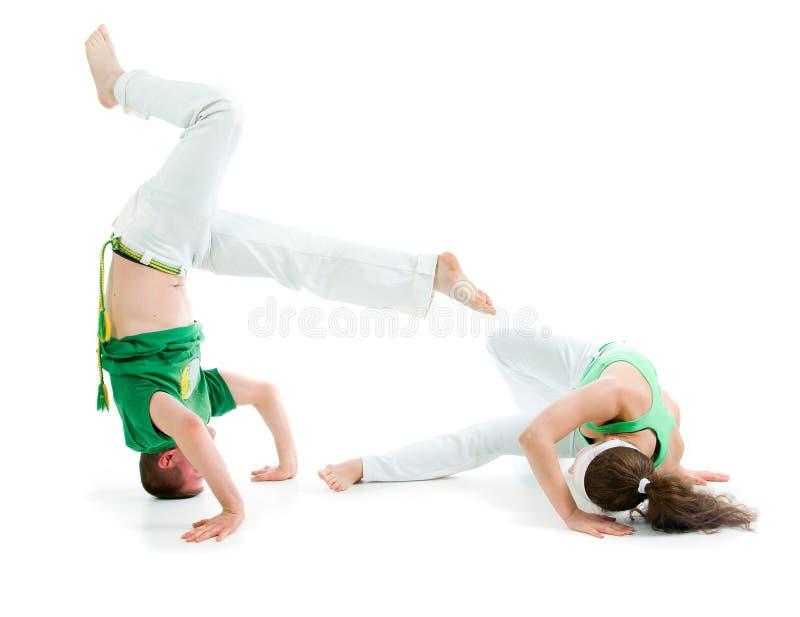 Deporte de contacto. Capoeira fotografía de archivo libre de regalías