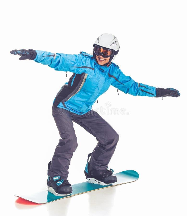 Deporte de invierno, muchacha imagen de archivo