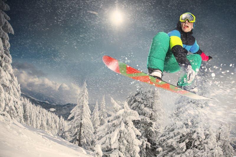 Deporte de invierno Snowboarder fotos de archivo libres de regalías