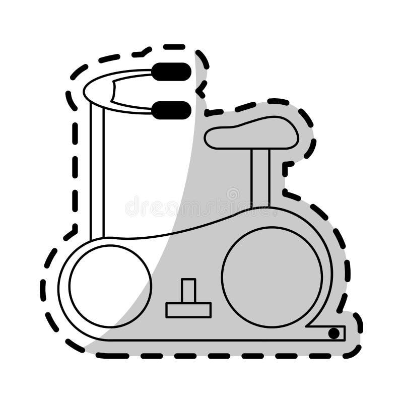 deporte de la bici o imagen inmóvil del icono de la salud ilustración del vector