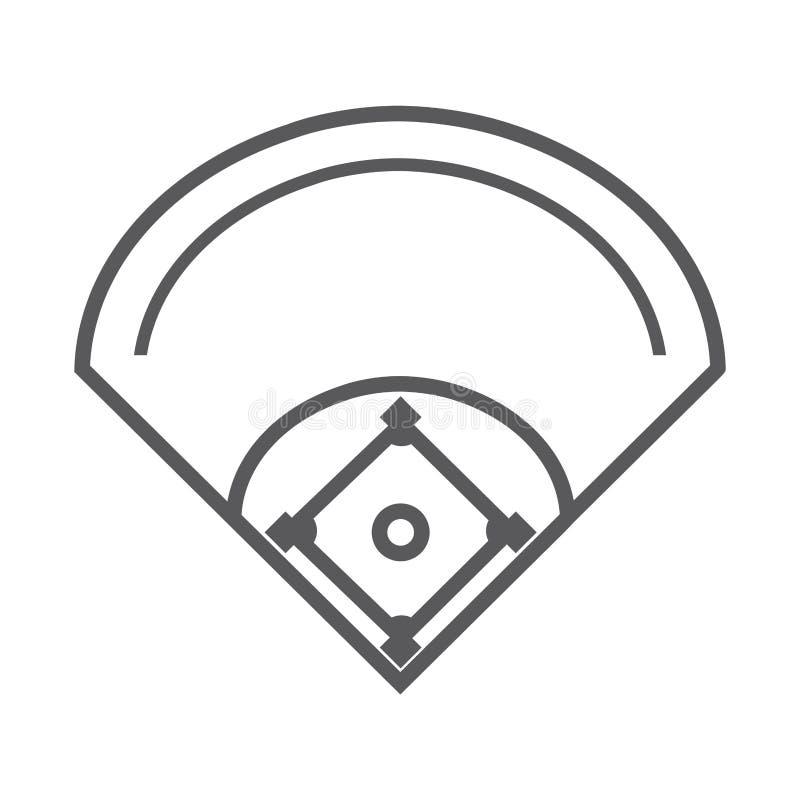 Deporte del béisbol del diamante del campo libre illustration