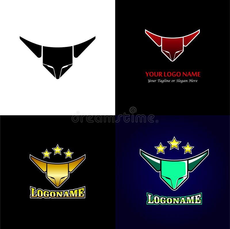 Deporte elegante Logo Design Template stock de ilustración