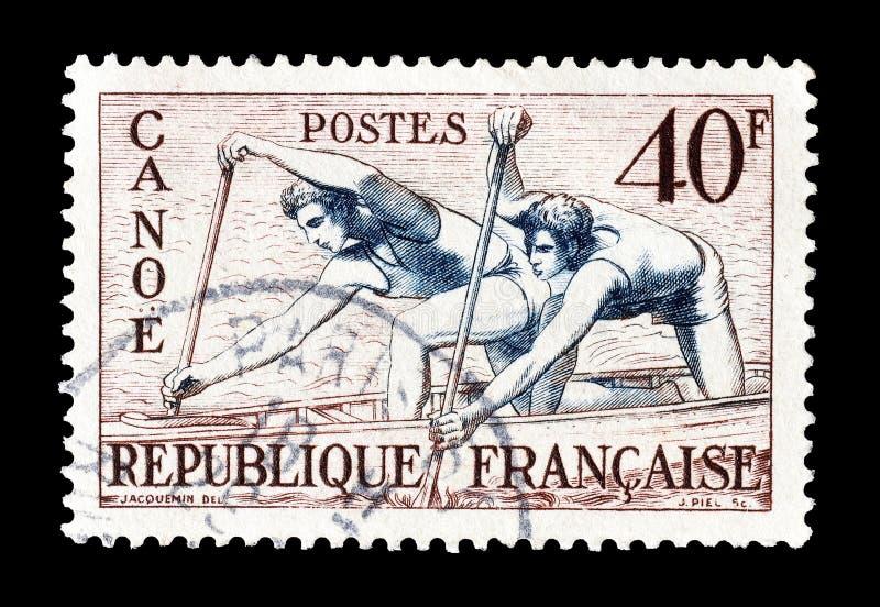 Deporte en sellos foto de archivo