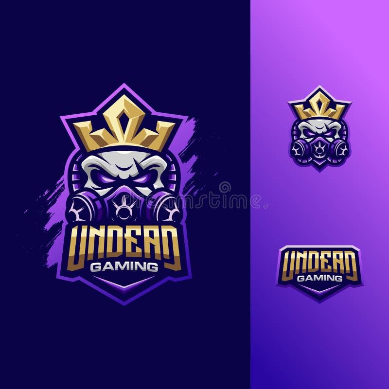 Deporte impresionante del logotipo del rey del cráneo del ejemplo libre illustration