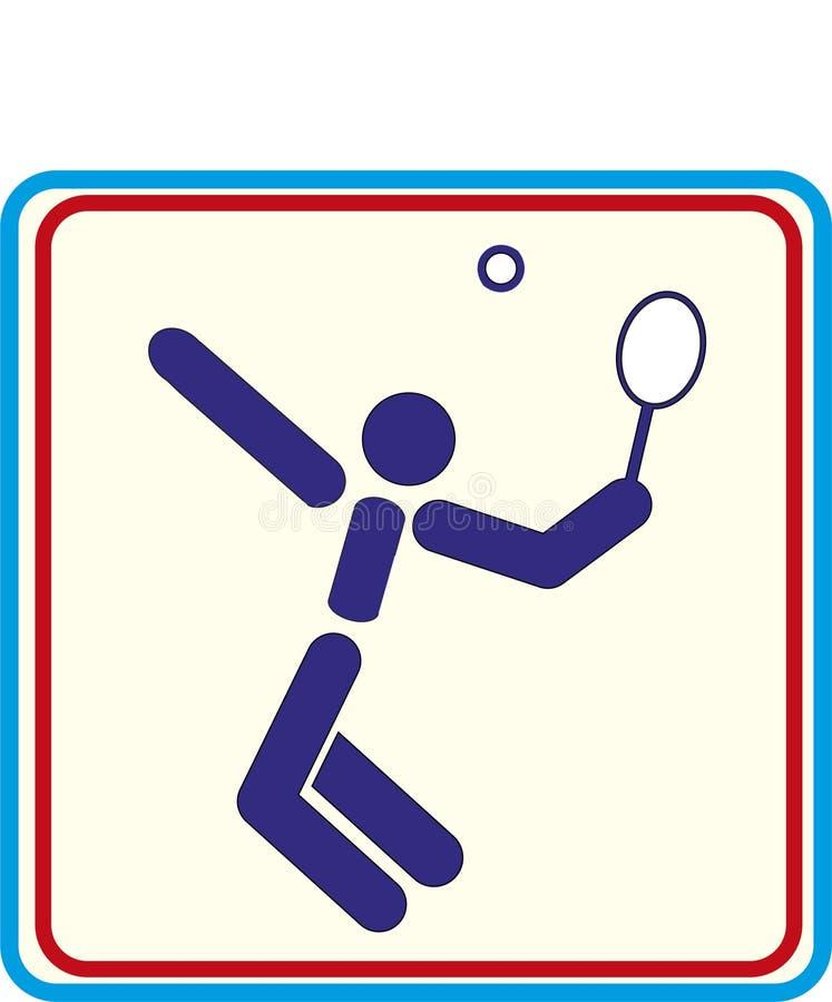 Deporte proyectos de la impresión de los iconos del vector del tenis stock de ilustración