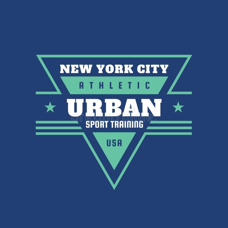 Deporte urbano que entrena a los E.E.U.U. atl?ticos - logotipo del vintage de la tipograf?a para la camiseta Insignia retra de la libre illustration