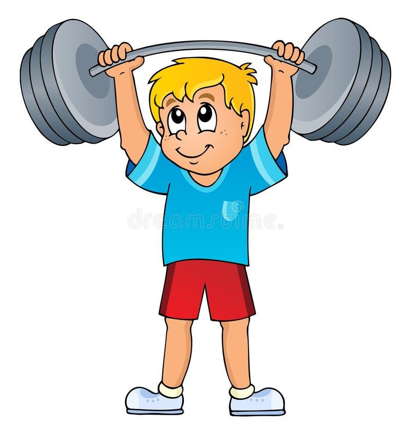 Deporte y tema 7 del gimnasio stock de ilustración