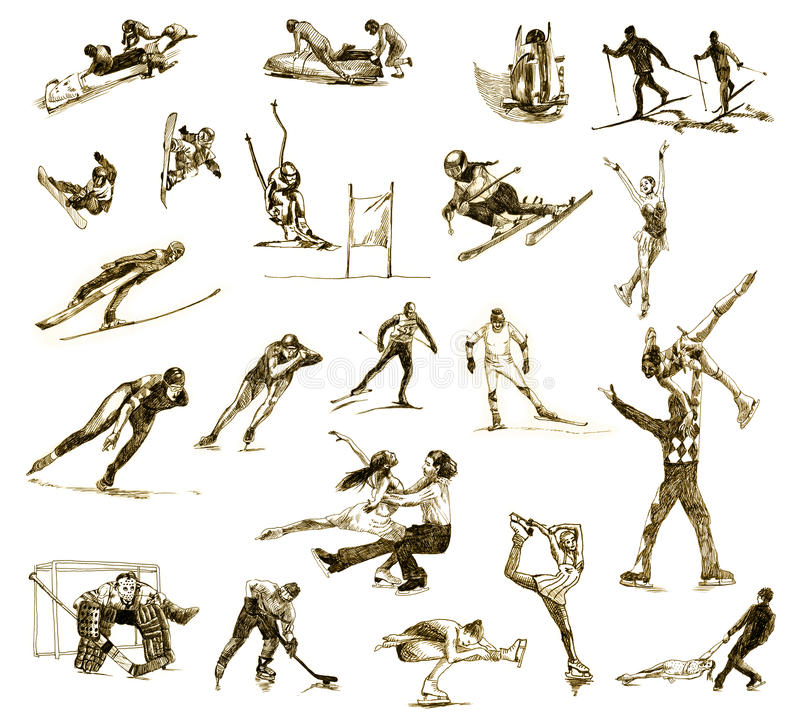 Deportes de invierno libre illustration