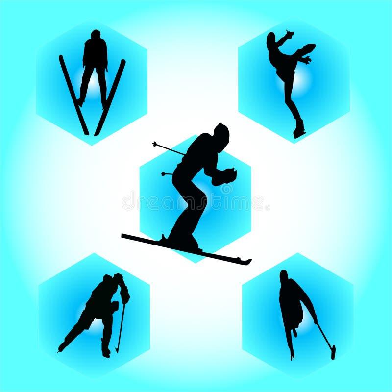Deportes de invierno fotografía de archivo