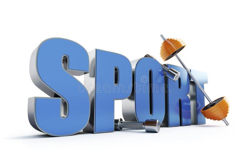 Deportes de la palabra stock de ilustración